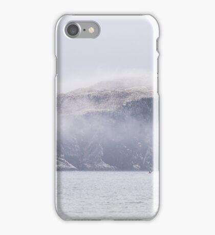Bass Rock in mist iPhone Case/Skin