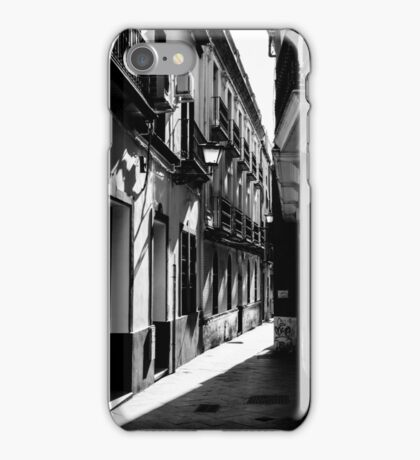 Streets of Seville in Black and White iPhone Case/Skin