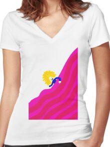 Nerd Girl Women's Fitted V-Neck T-Shirt