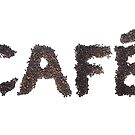 Café word made out of coffee beans by stuwdamdorp