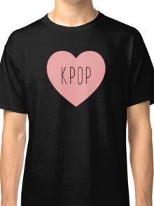 I Love Kpop | K pop Music Korea Korean Heart Classic T-Shirt