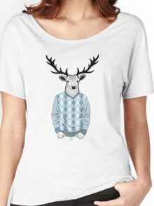 Mr. Deer Women's Relaxed Fit T-Shirt