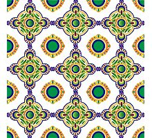 Blue and green pattern Photographic Print