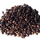 Pile of coffee beans. by stuwdamdorp