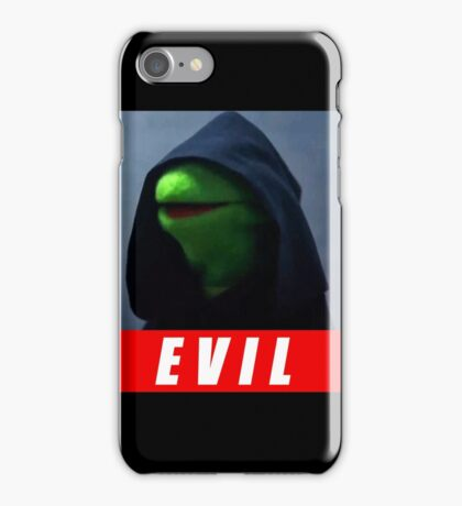 evil kermit iPhone Case/Skin
