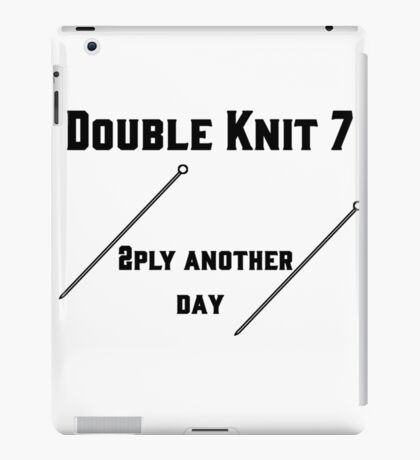 Double Knit 7 #1 iPad Case/Skin
