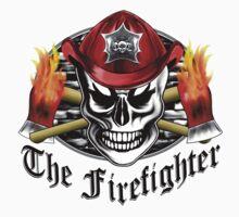 Firefighter Skull 4.3 Kids Tee