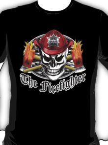 Firefighter Skull 4.3 T-Shirt
