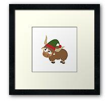 Yak Christmas Elf Framed Print