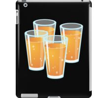 Glitch Drinks orange juice iPad Case/Skin
