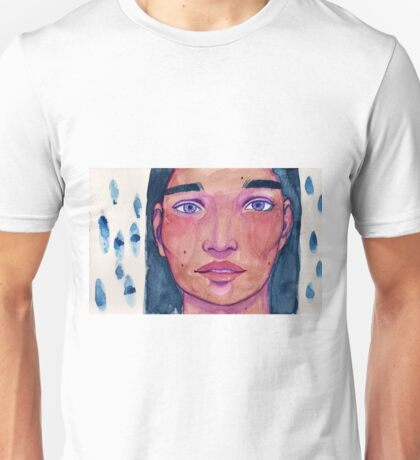 Closeup Watercolour Portrait Unisex T-Shirt