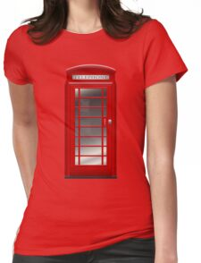 London Red Phone Booth Box  Womens Fitted T-Shirt