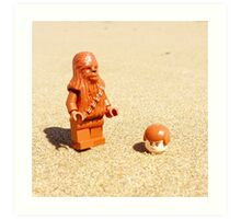 Chewy & Han Go To The Beach Art Print