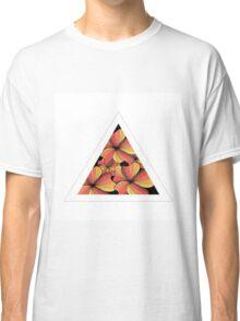 orange flowers in triangle Classic T-Shirt