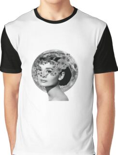 Audrey Hepburn in flowers Graphic T-Shirt