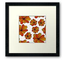orange flowers pattern Framed Print