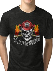 Firefighter Skull 6.1 Tri-blend T-Shirt