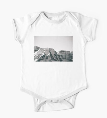 Black and White Wasatch Mountains One Piece - Short Sleeve