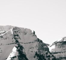 Black and White Wasatch Mountains Sticker