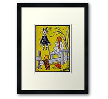 """""""Dorothy gazed thoughtfully at the Scarecrow."""" Framed Print"""