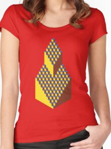Isometric Elavation Women's Fitted Scoop T-Shirt