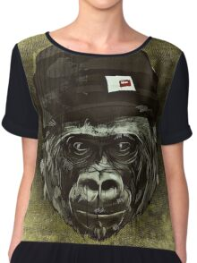 Monkey with cap Chiffon Top