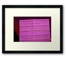 Highly opinionated Survey Framed Print