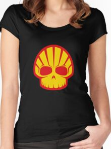 Shell Skull Women's Fitted Scoop T-Shirt