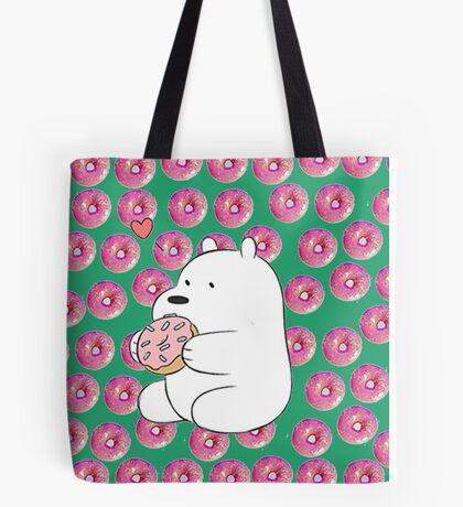 we bare bears- donut Tote Bag
