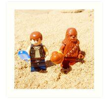 Han & Chewy At The Beach Art Print