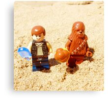Han & Chewy At The Beach Canvas Print