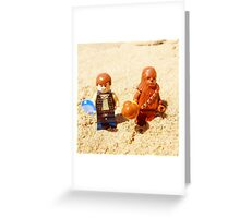 Han & Chewy At The Beach Greeting Card