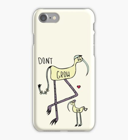 Don't Grow Up Illustration iPhone Case/Skin