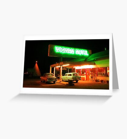Famous Route 66 Motel Greeting Card