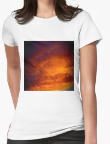 pixel sunset Womens Fitted T-Shirt