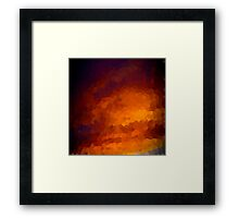 pixel sunset Framed Print