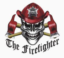 Fire Fighter Skull 1.1 Kids Tee