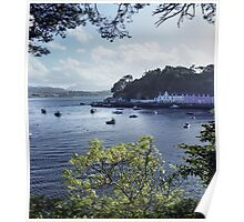 The pretty town of Portree, Isle of Skye Poster