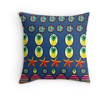 Fresh Fruity Stripes Enigma Throw Pillow