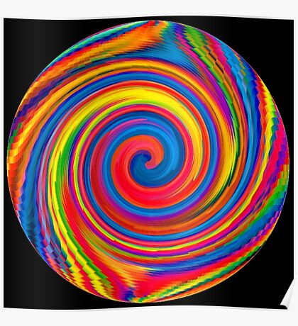 HIPPY, WHIRLPOOL, Prismatic, Psychedelic, Trip, Hippies, Colourful Poster