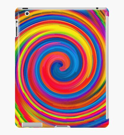 HIPPY, WHIRLPOOL, Prismatic, Psychedelic, Trip, Hippies, Colourful iPad Case/Skin