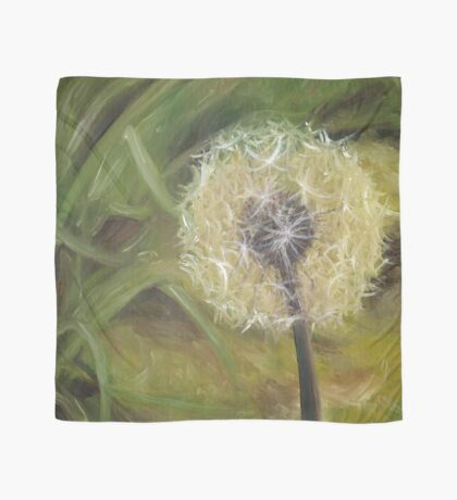 Dandelion Time Oil Painting by Angela Brown Art Scarf