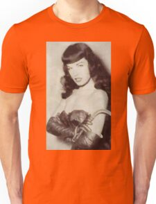 Bettie Page Pinup Star Unisex T-Shirt