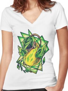Victreebel Women's Fitted V-Neck T-Shirt