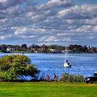 Rhode Island shore by Nancy Richard