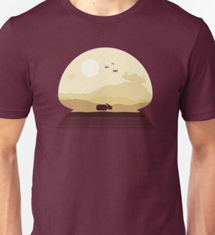 Rey Speeder on Jakku Unisex T-Shirt