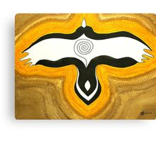 Crow Blessing original painting Canvas Print