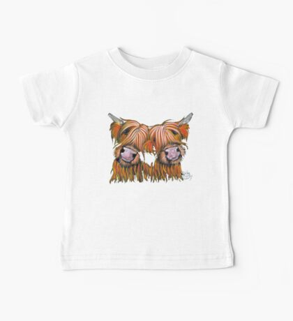 HIGHLAND COWS 'THE LOVELIES' By Shirley MacArthur Baby Tee