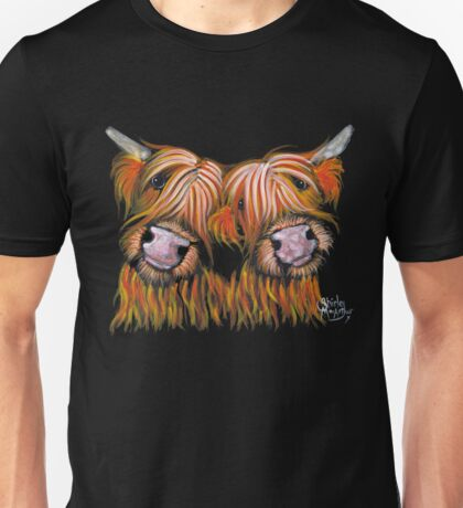 HIGHLAND COWS 'THE LOVELIES' By Shirley MacArthur Unisex T-Shirt