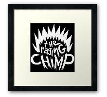 The Raging Chimp   Logo White Framed Print